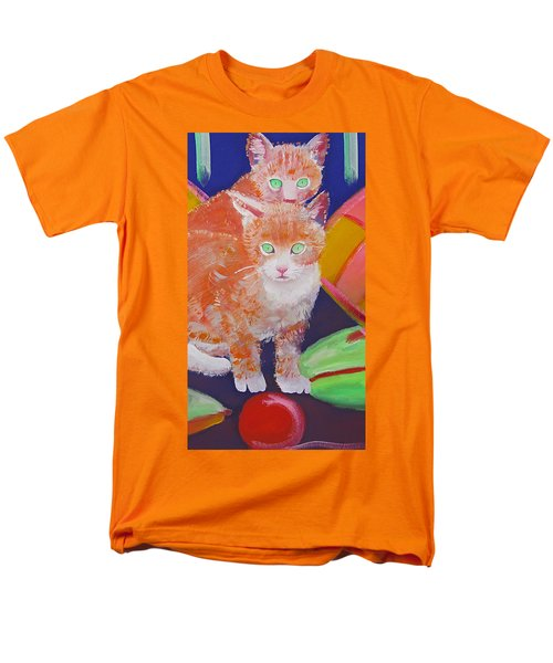 kittens With A Ball of Wool Men's T-Shirt  (Regular Fit) by Charles Stuart
