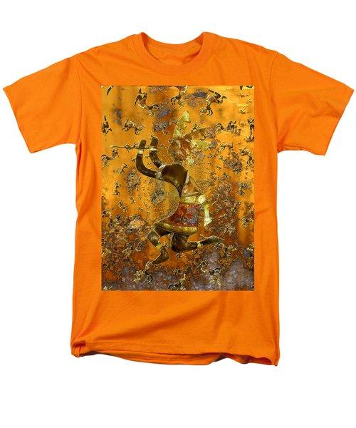 Kokopelli Men's T-Shirt  (Regular Fit) by Kurt Van Wagner