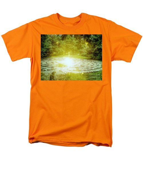 Labyrinth Myth And Mystical Men's T-Shirt  (Regular Fit) by Becky Lupe