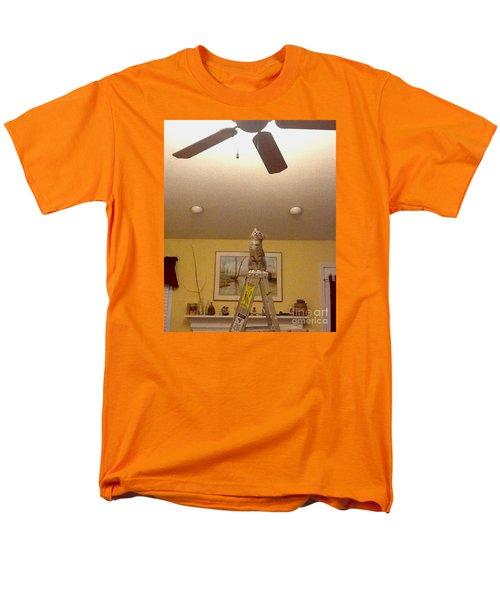 Ladder Cat Men's T-Shirt  (Regular Fit) by Stacy C Bottoms