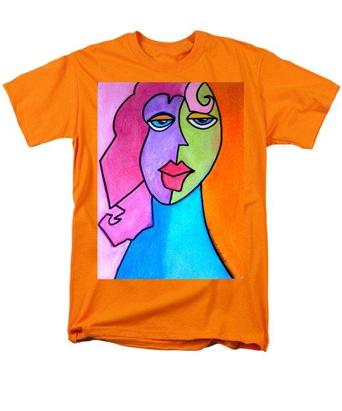 Red Head Pop  Men's T-Shirt  (Regular Fit) by Kelly Turner