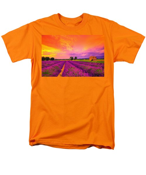 Lavender Sunset Men's T-Shirt  (Regular Fit) by Midori Chan