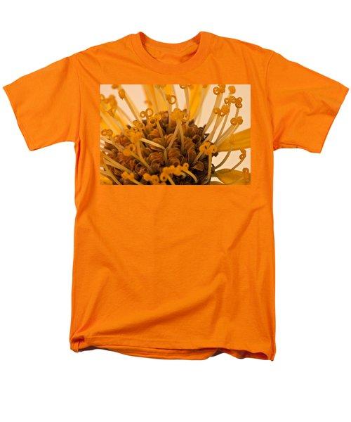Men's T-Shirt  (Regular Fit) featuring the photograph Leopards Bane Flower Macro by Sandra Foster