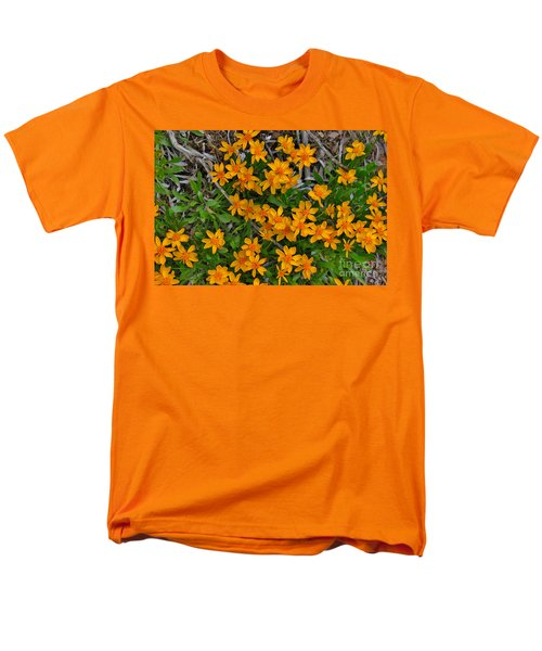 Men's T-Shirt  (Regular Fit) featuring the photograph Little Sunflower In The Mountains by Janice Rae Pariza