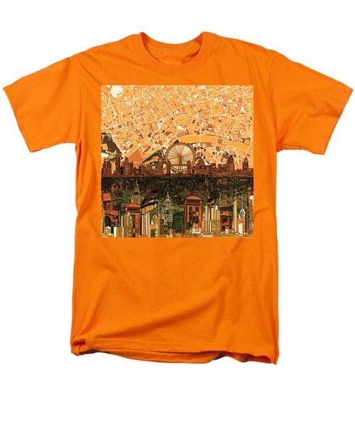 London Skyline Abstract 7 Men's T-Shirt  (Regular Fit) by Bekim Art