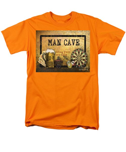 Man Cave-bring Your Own Beer Men's T-Shirt  (Regular Fit) by Jean Plout