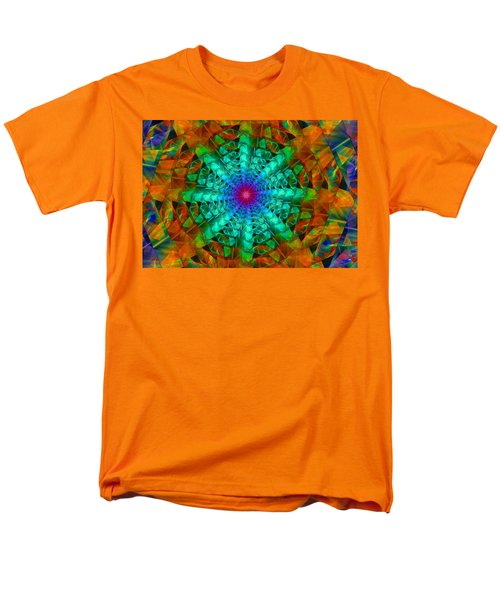 Men's T-Shirt  (Regular Fit) featuring the digital art Mandala by Ester  Rogers