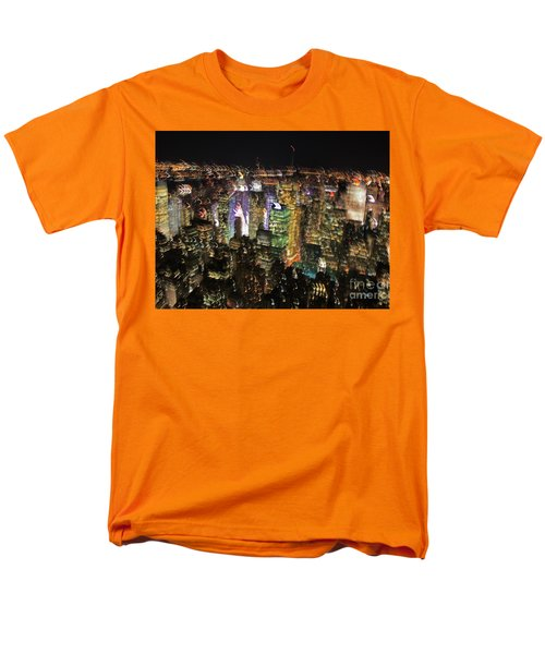Men's T-Shirt  (Regular Fit) featuring the photograph Manhattan Skyline Empire State Wobbles by Andy Prendy