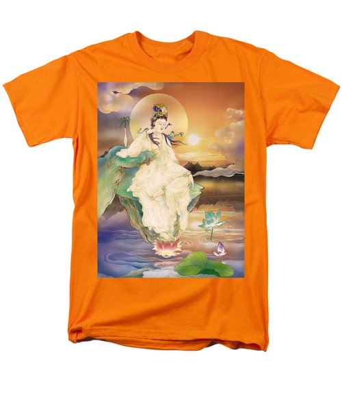 Medicine-giving Kuan Yin Men's T-Shirt  (Regular Fit) by Lanjee Chee