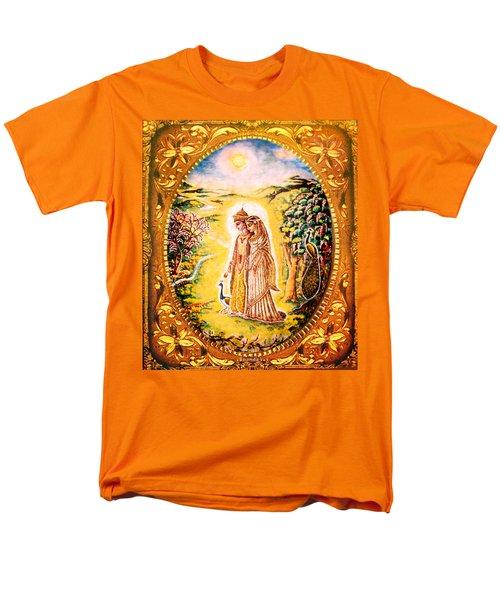Miniature Rukmini-krishna  Men's T-Shirt  (Regular Fit) by Ananda Vdovic