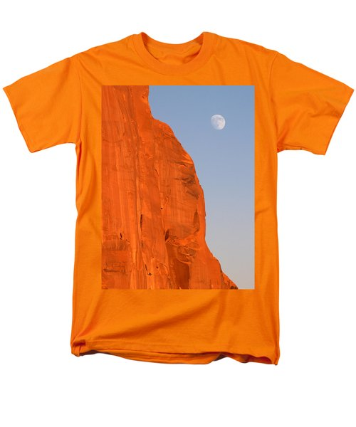 Moon At Monument Valley Men's T-Shirt  (Regular Fit)