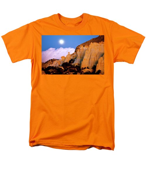 Moonrise Over The Kaiparowits Plateau Utah Men's T-Shirt  (Regular Fit) by Ed  Riche