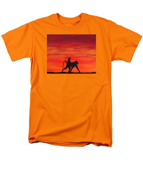Men's T-Shirt  (Regular Fit) featuring the painting Mother Africa 4 by Michael Cross