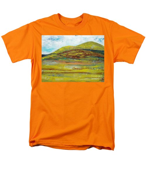 Men's T-Shirt  (Regular Fit) featuring the painting Mountains  by Reina Resto