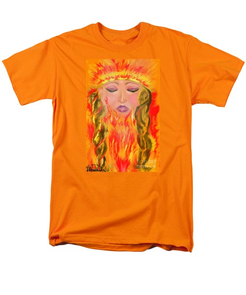 Men's T-Shirt  (Regular Fit) featuring the painting My Burning Within by Lori  Lovetere