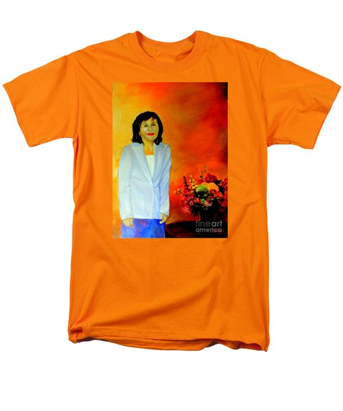 Men's T-Shirt  (Regular Fit) featuring the painting My Wife by Jason Sentuf