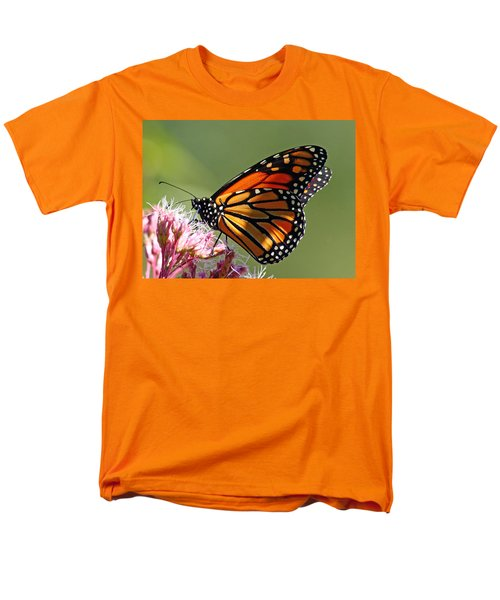 Men's T-Shirt  (Regular Fit) featuring the photograph Nectaring Monarch Butterfly by Debbie Oppermann