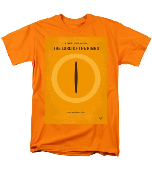 No039 My Lord Of The Rings Minimal Movie Poster Men's T-Shirt  (Regular Fit)