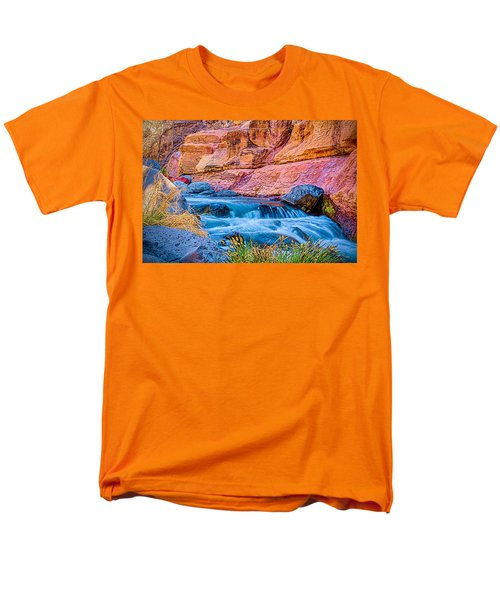 Oak Creek In The Spring Men's T-Shirt  (Regular Fit) by Fred Larson