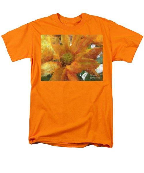 Orange Chrysanthemem Photoart Men's T-Shirt  (Regular Fit) by Debbie Portwood