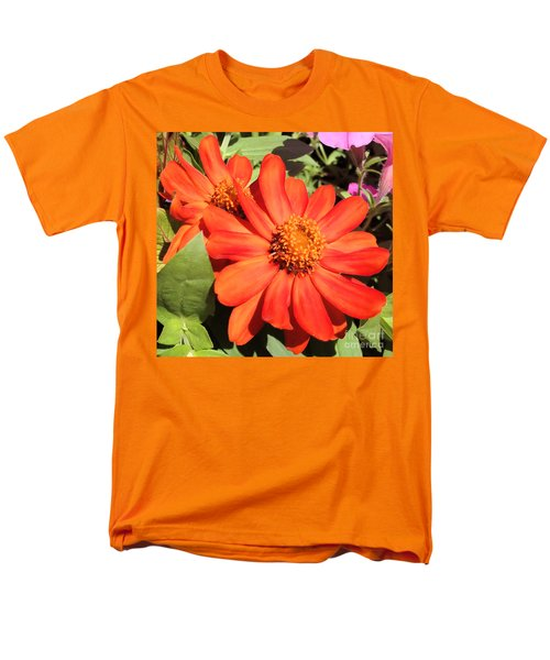 Orange Daisy In Summer Men's T-Shirt  (Regular Fit) by Luther Fine Art