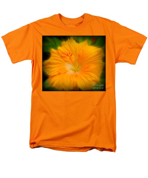 Men's T-Shirt  (Regular Fit) featuring the photograph Orange Hibiscus Flower by Clare Bevan