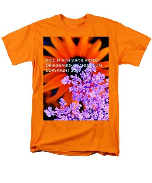 Orange Lavender Flower Men's T-Shirt  (Regular Fit) by Eric  Schiabor