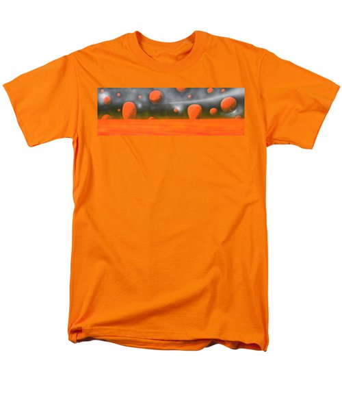 Men's T-Shirt  (Regular Fit) featuring the painting Orange Planet by Tim Mullaney