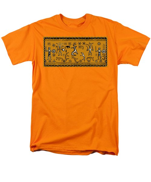 Men's T-Shirt  (Regular Fit) featuring the digital art Pagan Rituals by Vagabond Folk Art - Virginia Vivier