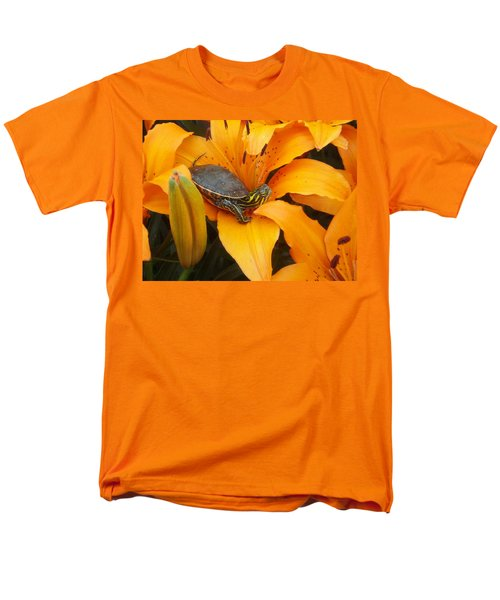 Painted Lilly Men's T-Shirt  (Regular Fit) by James Peterson