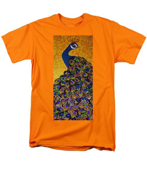 Men's T-Shirt  (Regular Fit) featuring the tapestry - textile Peacock Blue by Apanaki Temitayo M