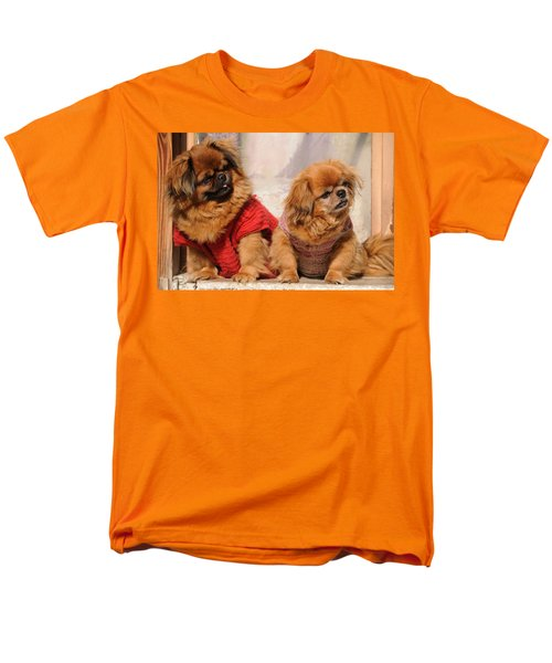 Pekingese Pair Men's T-Shirt  (Regular Fit) by Jeremy Voisey
