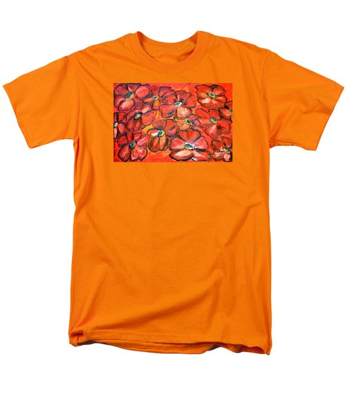 Men's T-Shirt  (Regular Fit) featuring the painting Plaisir Rouge by Ramona Matei