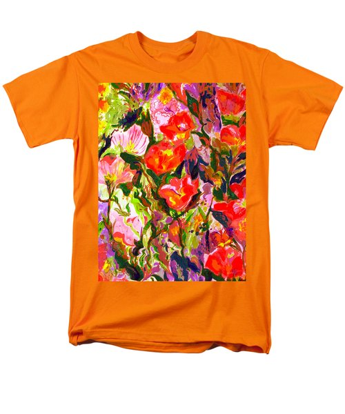 Men's T-Shirt  (Regular Fit) featuring the mixed media Poppies by Beth Saffer