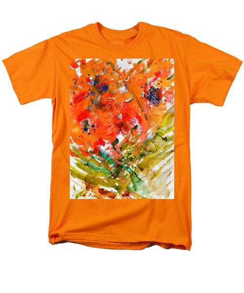 Poppies In A Hurricane Men's T-Shirt  (Regular Fit) by Beverley Harper Tinsley