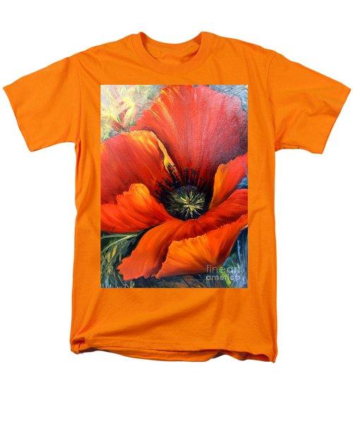 Poppy Red Men's T-Shirt  (Regular Fit)