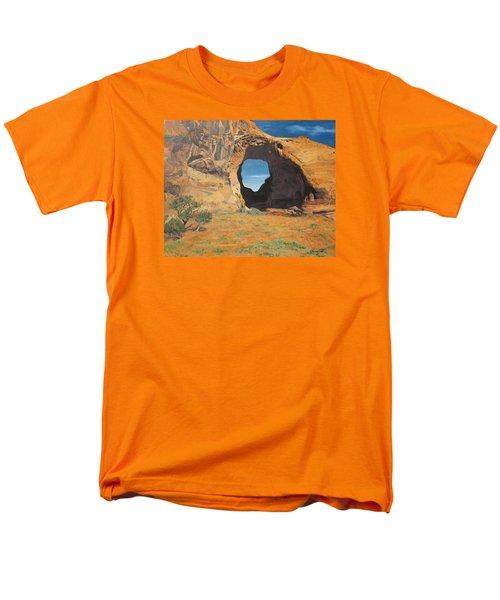 Portal At Window Rock  Men's T-Shirt  (Regular Fit) by Barbara Barber