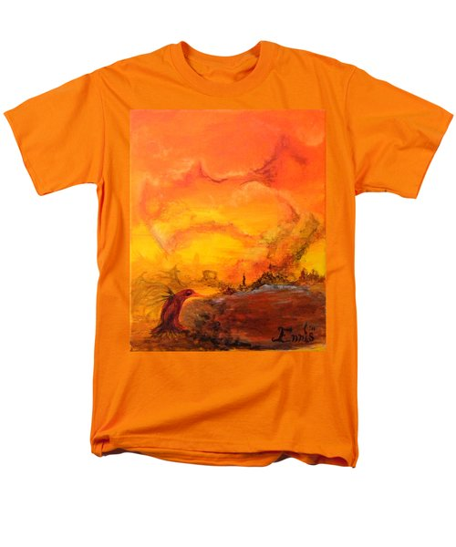 Post Nuclear Watering Hole Men's T-Shirt  (Regular Fit) by Christophe Ennis