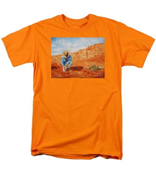 Men's T-Shirt  (Regular Fit) featuring the painting Prayer For Earth Mother by Ellen Levinson