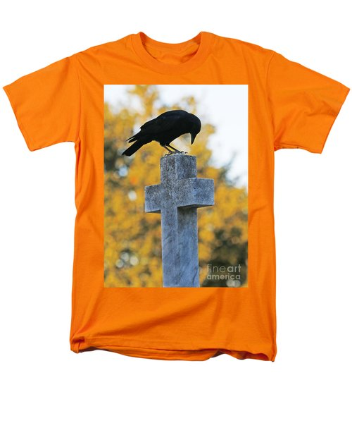 Men's T-Shirt  (Regular Fit) featuring the photograph Praying Crow On Cross by Luana K Perez