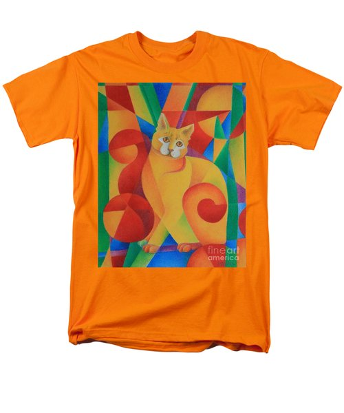 Men's T-Shirt  (Regular Fit) featuring the painting Primary Cat II by Pamela Clements
