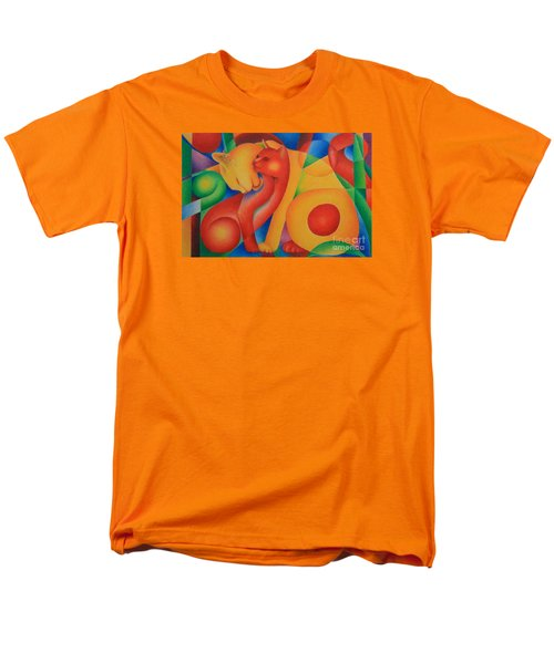 Men's T-Shirt  (Regular Fit) featuring the painting Primary Cats by Pamela Clements