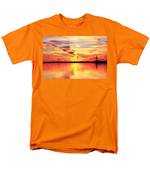 Men's T-Shirt  (Regular Fit) featuring the photograph Provincetown Harbor Sunset by Roupen  Baker