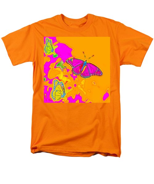 Men's T-Shirt  (Regular Fit) featuring the digital art Psychedelic Butterflies by Marianne Campolongo