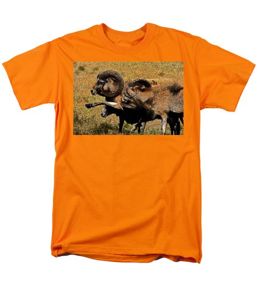 Men's T-Shirt  (Regular Fit) featuring the photograph Rams At Half-time by Doc Braham