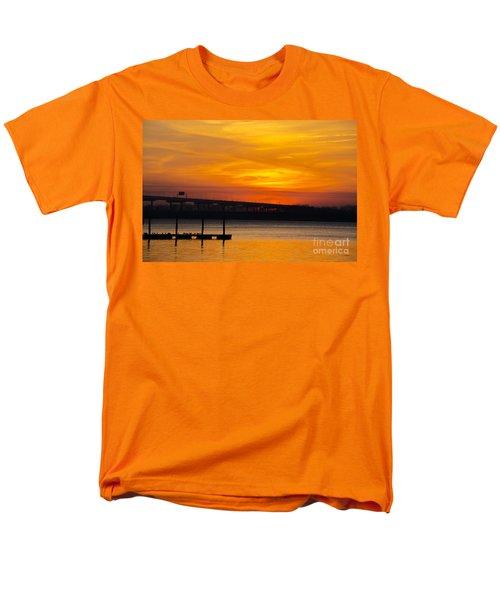 Orange Blaze Men's T-Shirt  (Regular Fit) by Dale Powell