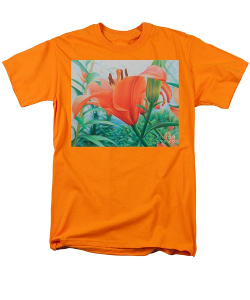 Men's T-Shirt  (Regular Fit) featuring the painting Reach For The Skies by Pamela Clements