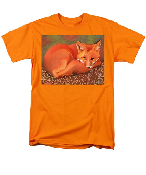 Red Fox Men's T-Shirt  (Regular Fit) by Dan Miller