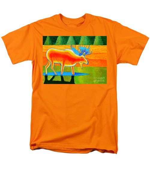Men's T-Shirt  (Regular Fit) featuring the painting Red Moose by Joseph J Stevens