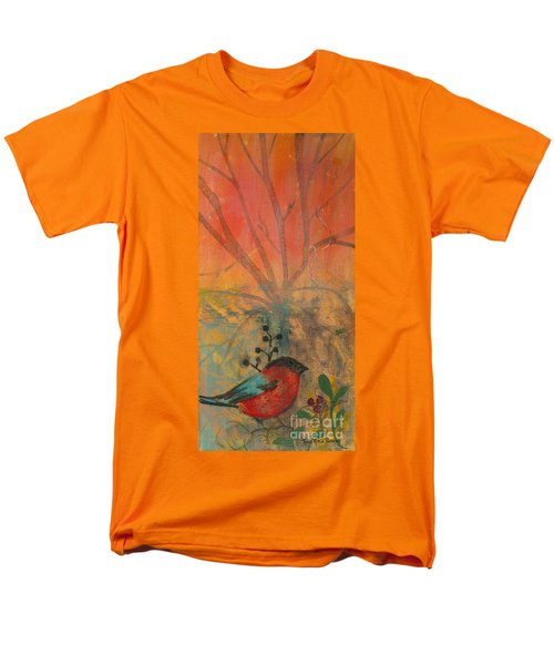 Men's T-Shirt  (Regular Fit) featuring the painting Red Peace Bird by Robin Maria Pedrero